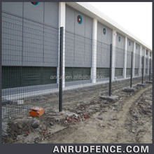 New Products 2015 Top Sale Metal Wrought Iron Powder Coated Welded Mesh Industrial Fence