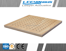Best Choice MDF formaldehyde - free Soundproof Perforated Wooden Acoustical Panel/Acoustic Woods Panel For Sound Recording Room