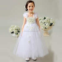 2015 new designs handmade tutu flower dresses for girls of 7 year old