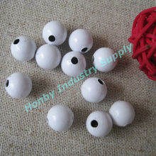 10mm Decorative Large White Hollow Metal Ball