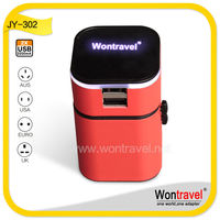 Wontravel JY-302 OEM logo/color/package design universal protable mobile phone charger with 3200mA usb output