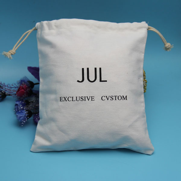 wholesale nice quality eco natural unbleached plain cotton bag with logo printing
