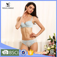 2015 New Design Comfortable Wireless Padded Sexy Cut Out Bra