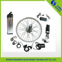 "26""hub motor kit for DIY motorized bicycle/eletric moped lifepo4 conversion kit"