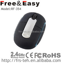 RF-354 Rubber surface 2.4g wireless mouse, mini wireless mouse foe travel