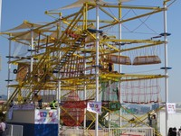 High low ropes course, spider web playground equipment, children play equipments