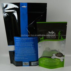Three sides sealed bag for animal food packaging bags with short lead time