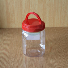 Red Handle Clear Plastic Jar