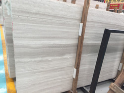 Chinese White marble, white wooden vein from China