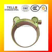 Single bolt high pressure hose clamps