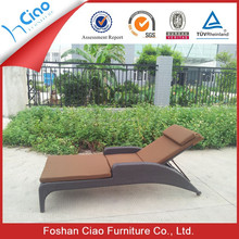 Artificial rattan outdoor sun lounger used beach for sell