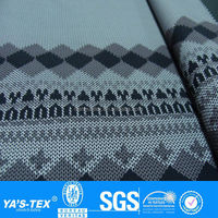 2 layers woolen yarn printed waterproof softshell fabric for outdoor sportswear jacket