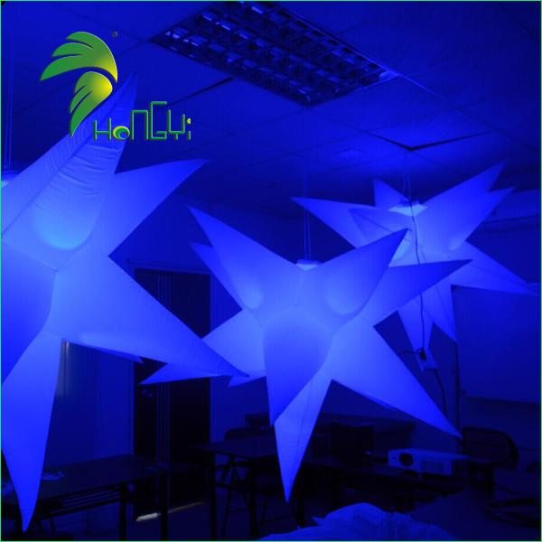 led lighting star shaped balloon