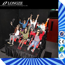 Hot Sale 6/9/12 Seats Interactive Gun Shooting 7D Cinema For Sale