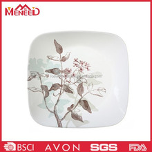 Home used new square tree print plastice a5 melamine plate