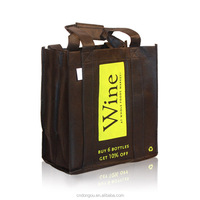 Recycle Canvas Bottle Wine Tote Bag With Low Price