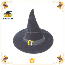 Black velvet witch hat wholesale