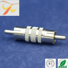 factory price RCA male to male ,RF connector RCA double male connector