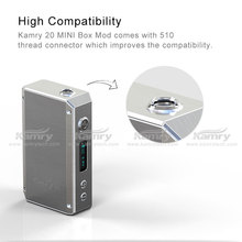 top selling products 2015 mini box mod kamry 20w, 7-23w fashion e vaporizer e cigarette kamry 20 with 18650 battery