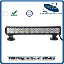 126w 5000k 20 inch 4x4 12v automotive led light bar, led motorcycle light bar, 4d led driving light bar