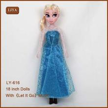 Películas frozens cifras lindo muñeca elsa& anna muñeca juguetes de los niños muestra gratis de la muñeca