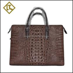 Luxury hot sell genuine crocodile leather skin briefcase bag