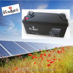 Battery manufacturer rechargeable dry cell solar 12v gel battery 200 ah