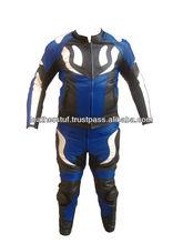 Leather Race Quality Leather Suit Blue Color