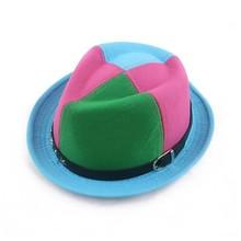 manufacture children mix corlor wool felt panama hat