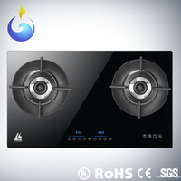 Global Patent Heat Recycle Intelligence commercial double burner electric touch screen tempered glass table tops gas stove