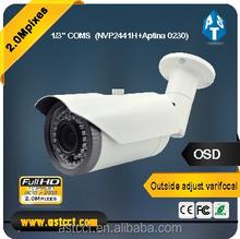1/3 Inch CMOS Sensor Bullet Camera 1080P 2.0 MP AHD Bullet Color IR 2.8-12mm Vari Focal Lens Bullet Waterproof CCTV Camera