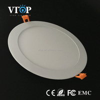 18w recessed round led ceiling panel smd 2835 flat led panel light diffuser