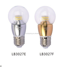 5W E27 LED candle light bulbs clear glass lamp shade AC85-265V