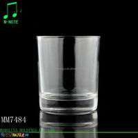 clear popular wholesale short glass candle holder