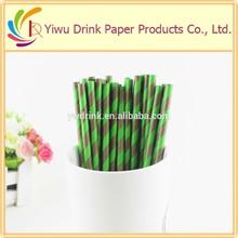 Pajitas de papel a rayas, pajitas de papel para beber para fiestas de alta calidad