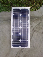 Winbright Factory price YB125M36-20W 12V Mono crystalline solar panel pv panel for 12V battery Charge