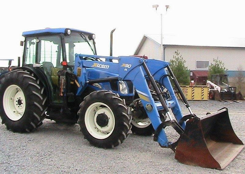 New Holland 75hp 4x4 Tractors : New holland tn sa tractor cab heat air loader