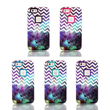 3in1 Hybird Hard PC+Soft TPU Painting Night Sky Wave lines&Anchor Design Back Skin Cover Case For iPhone 6 4.7""