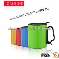 Direct manufacturer 200ml 300ml 350ml 450ml double wall stainless steel coffee mug ,small cup