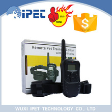 Remote rechargeable shock locking control dog collar