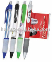 Promotional advertise banner ballpen, retractable pulled out ball pen