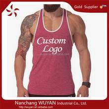 Sexy mens sports wear bulk custom wrestling stringer singlet gym bodybuilding tank top