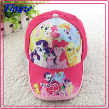 Wholesale lovely cartoon my little pony kids sports caps children caps and hats