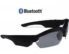 High tech full hd 1080p smart glasses wireless bluetooth sunglasses camera support video+photo+music+phone call