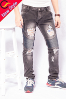 raw denim crush trousers jeans in china price