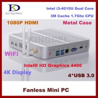 Mini business Desktop PC with intel core i3 4010U CPU Barebone Mini PC Nettop Computer 4*USB3.0 VGA 1080P HD Display 300M Wifi