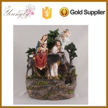 New Polyresin religous holy family statue Water Flow Foutains YLD015B-004