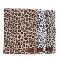 Leopard PU wallet Leather Case cover for Apple iPad Mini3 with stand and card slots
