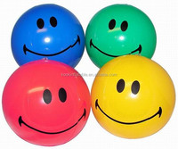 Wholesale inflatable vinyl beach ball smiley face beach ball