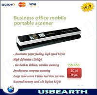 Freeshipping skypix tsn480 scanner auto feeding scanner HD1200 portable handheld easy to use